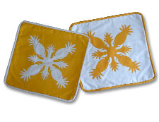 Hawaiian Quilt Pillow Covers